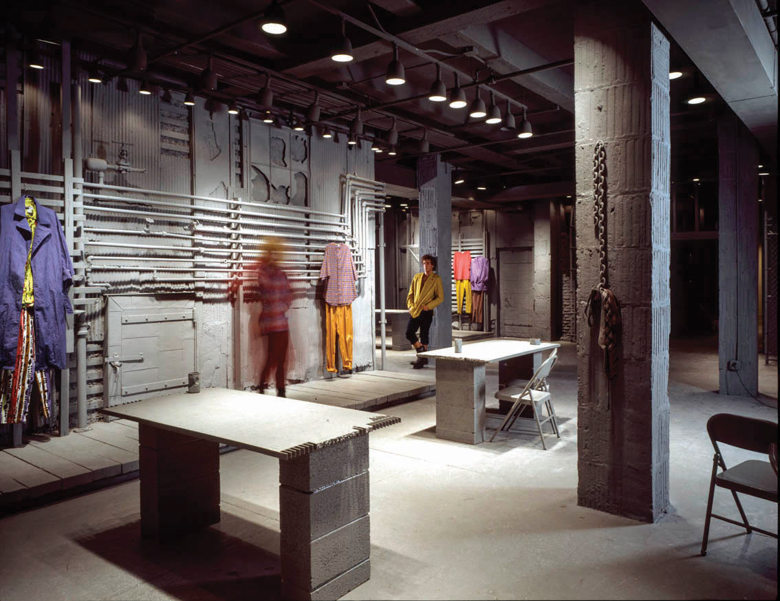 SITE for WilliWear, Showroom, New York, NY, Photographed by Andreas Sterzing, 1982.
