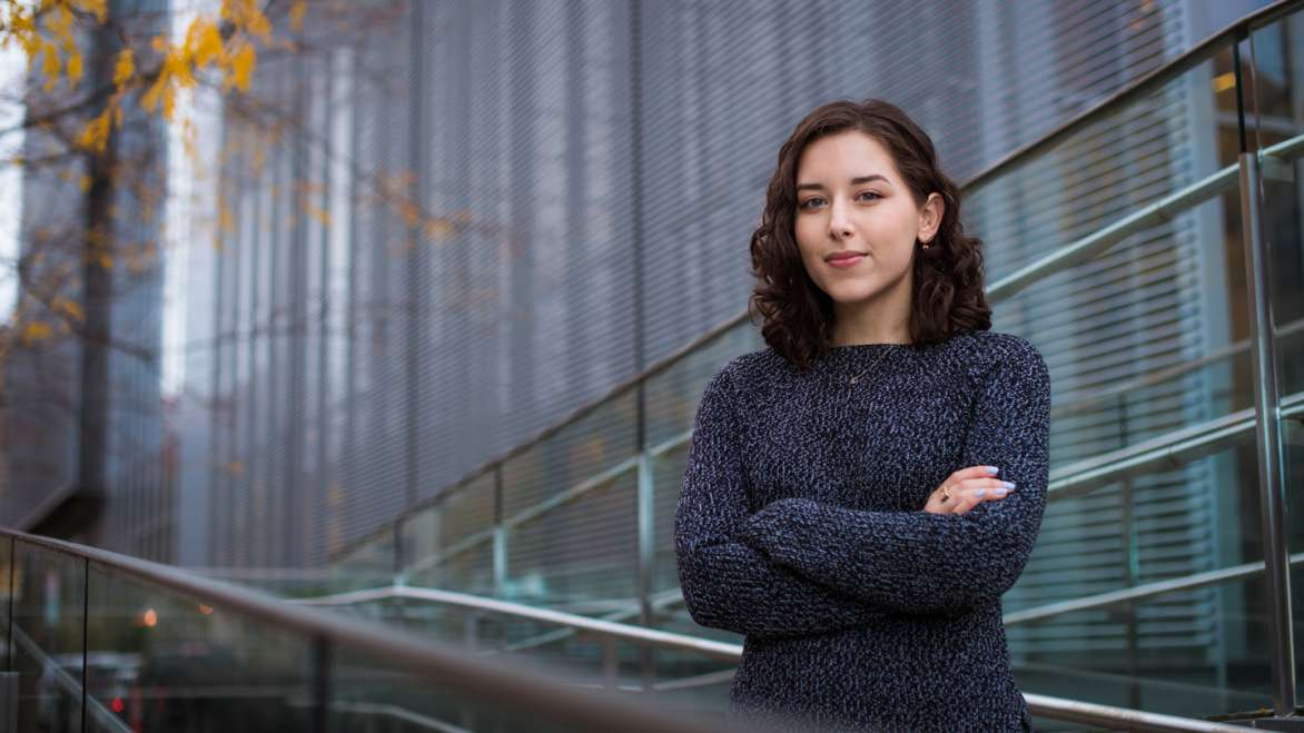 Alana Sanchez is an MIT senior majoring in physics with a focus on astronomy. Photo: Gretchen Ertl