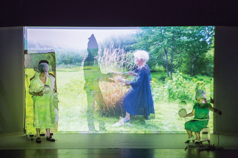Joan Jonas, They Come to Us without a Word II, 2015 Photo: Moira Ricci. Image courtesy of the MIT List Visual Arts Center.