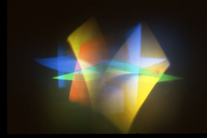 Dieter Jung, CAVS Fellow 1985 – 1987, Reproductions of Light Mill (Motion in Space – Space in Motion), various angles, 1987 Computer generated hologram, photographer unknown