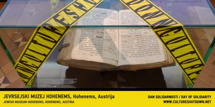 Jewish Museum Hohenems participation in CULTURESHUTDOWN (a project initiated by Azra Aksamija).
