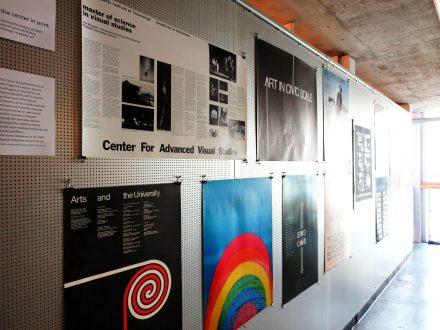 Exhibition views of, the center in print: tracing the history of CAVS events and exhibitions through its poster art. Rotch Library, 2015. Photo Installation View Laura Anca Chichisan.