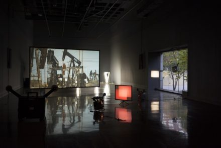 Rosa Barba: The Color Out of Space. Exhibtion Installation view: MIT List Visual Arts Center