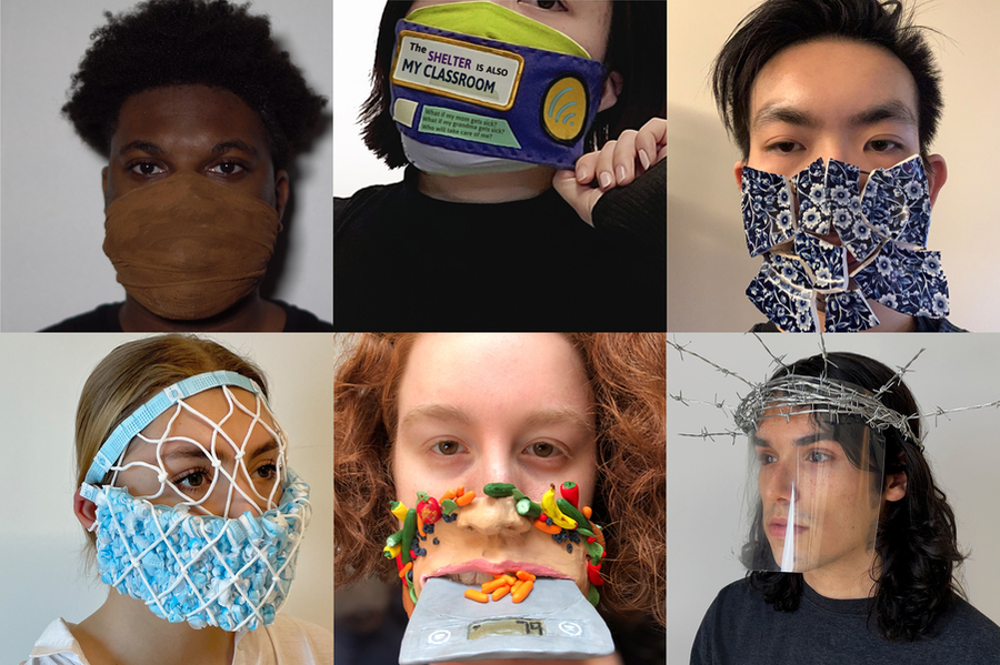 Students in 4.302 (Design and Scarcity) were encouraged to envisage a mask that would serve as a physical extension of the mind and the body — a site of exchange and a way of relating to a larger community. Credits: Photos courtesy of MIT ACT