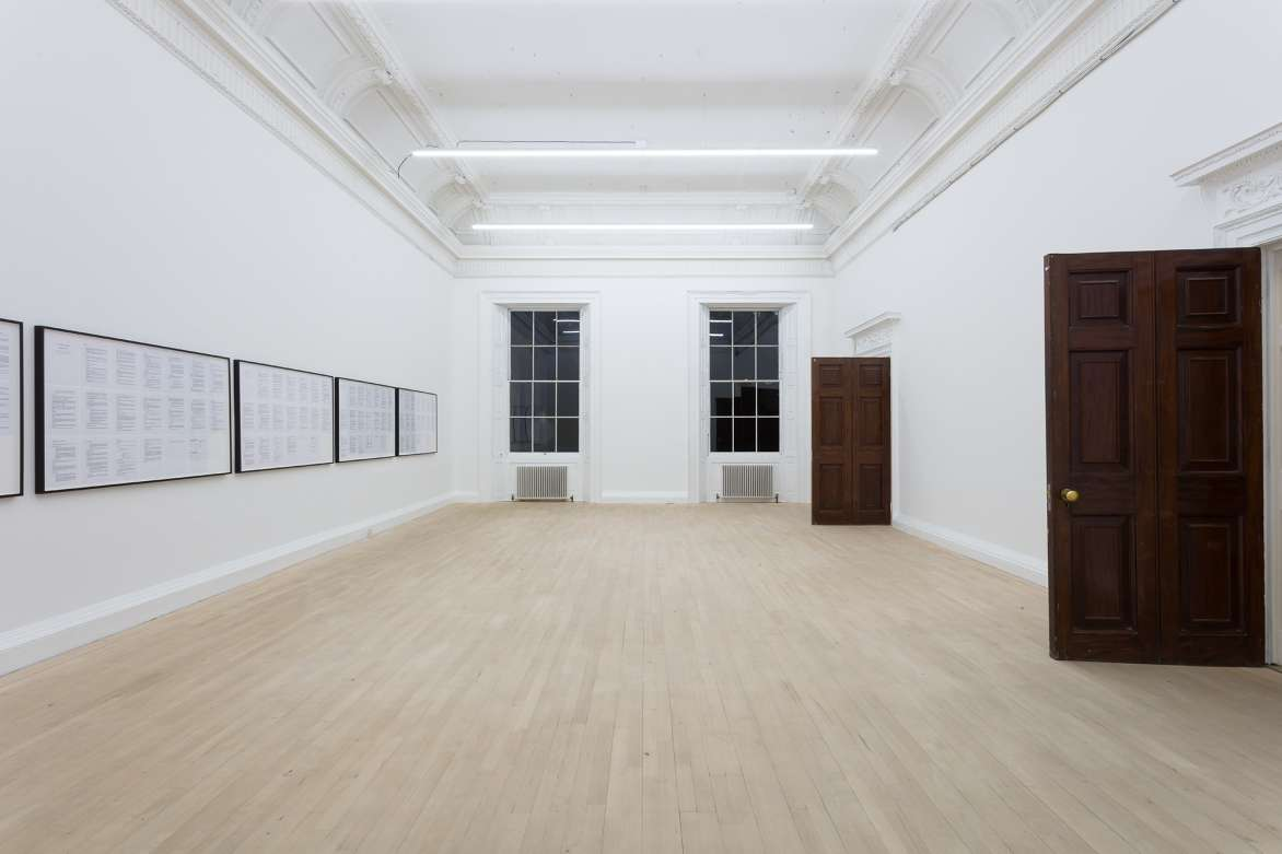 Cameron Rowland 3 & 4 Will. IV c. 73, Institute of Contemporary Arts, London, 2020. Installation view. Courtesy of the artist.
